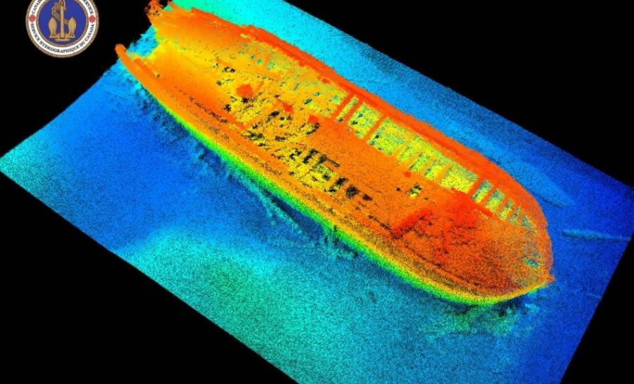 Simulation en 3D de l'épave de l'Erebus. © Lion TV