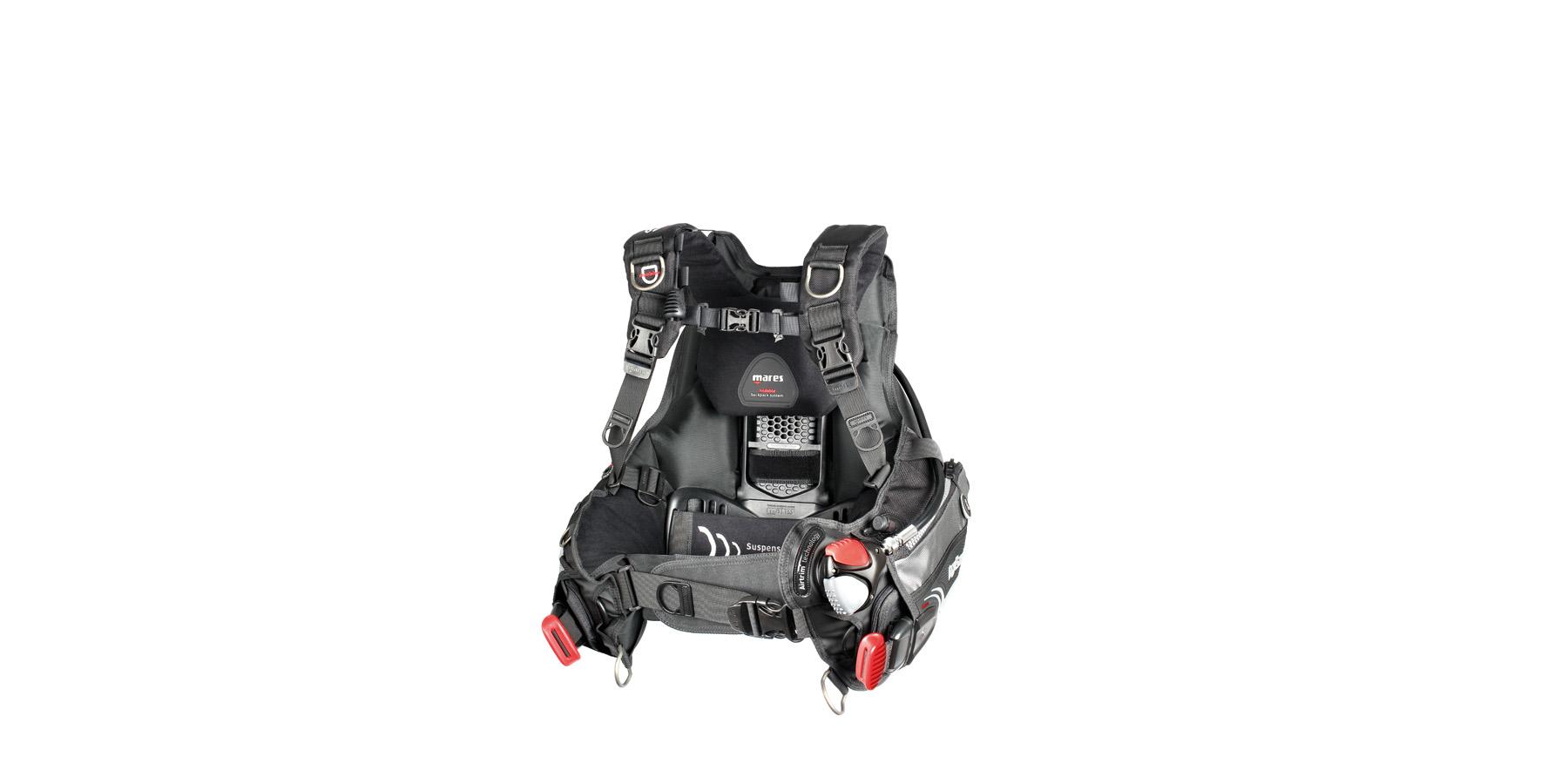 gilet hybrid at mares - Un gilet hybride très confortable conçu comme un sac à dos