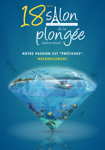 Affiche du salon de la plongée. © HP Communication.