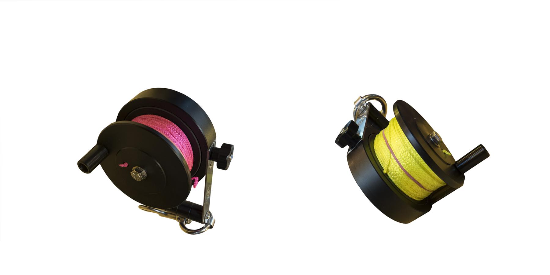 moulinet - Des dévidoirs colorés pour la plongée tek