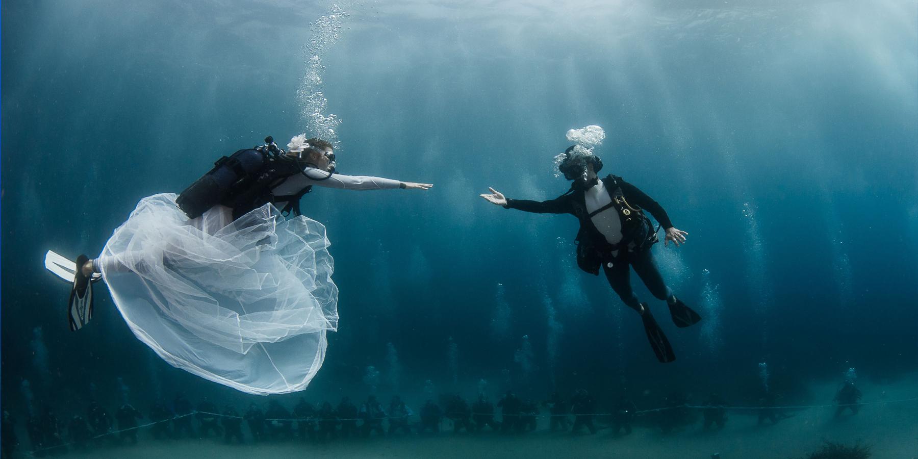 mariages sous marins - Mariage subaquatique, vivez le plus beau jour de votre vie sous l'eau !