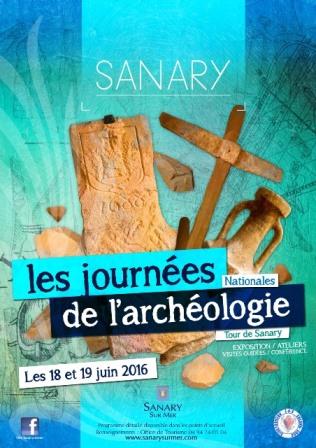 Affiche des journées nationales de l'archéologie ©Ville de Sanary-sur-Mer