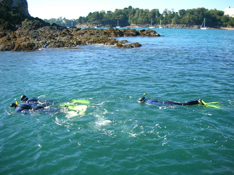 En plus de découvrir les fonds marins, les plongeurs profitent d'un environnement agréable, comme ici, à Saint Malo ©SMPE