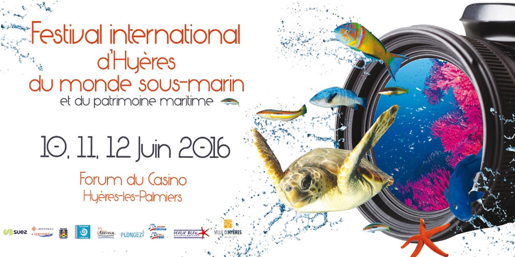 affiche - Du 10 au 12 juin 2016 : Plongez ! partenaire du festival international d'Hyères