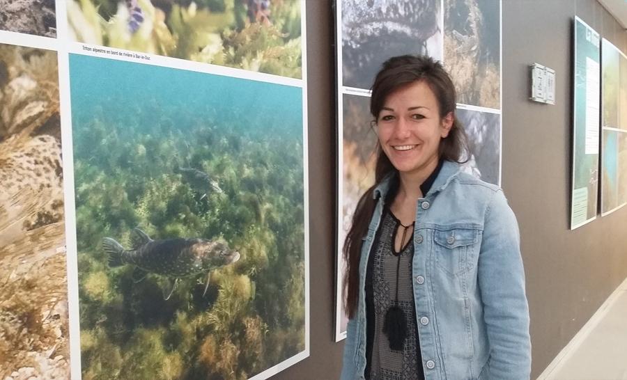 Anne-Cécile Monnier réalisatrice de l'exposition © Association Reflets d'eau douce