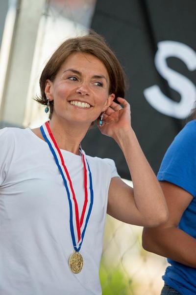 Nadia Noël-Gravier, médaille d'or en apnée poids constant monopalme ©unlimited prod/FFESSM