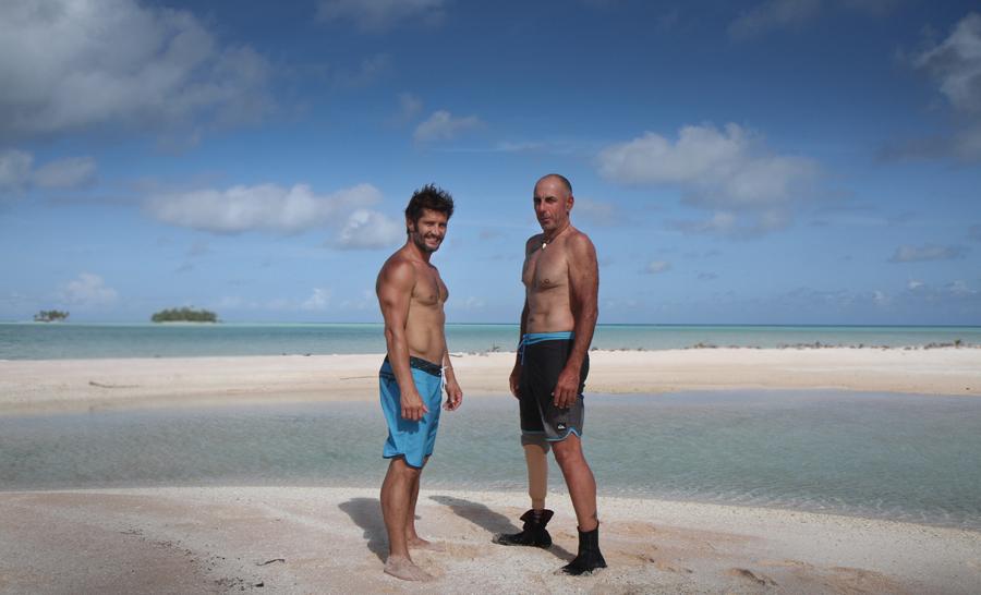 """Bixente Lizarazu et Franck Bruno les """"frères de sport"""" © David Ribeiro"""