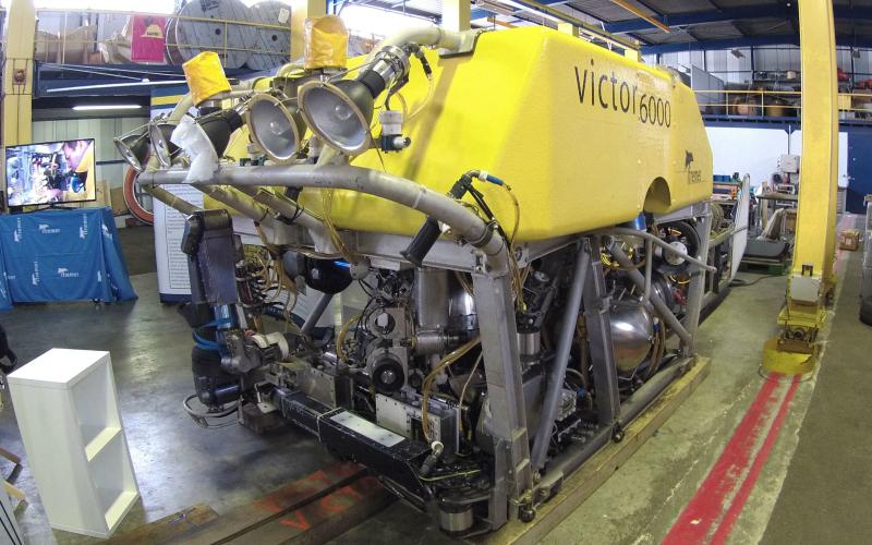 Le robot télé-opéré Victor 6000 de l'Ifremer © DR