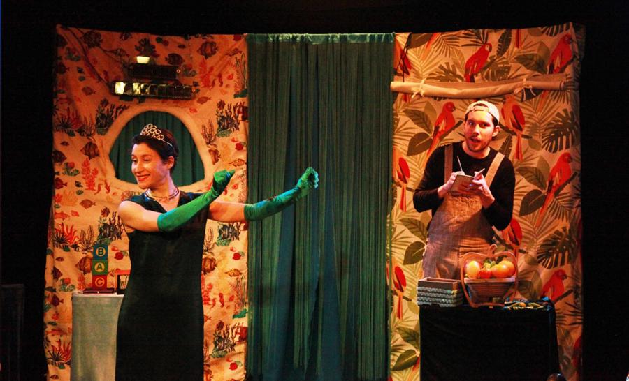 La fée courgette (Stéphanie Truong) et le narrateur-magicien (Antoine Cortel ami de Basile l'orque © henrisson.net