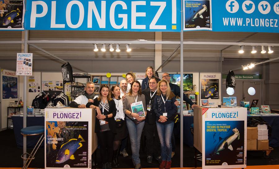 L'équipe Plongez ! a été ravie de vous accueillir sur son stand © Dominique Barray