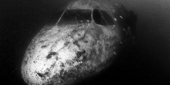 Extérieur de l'épave de l'A300 © Pascal Sturm