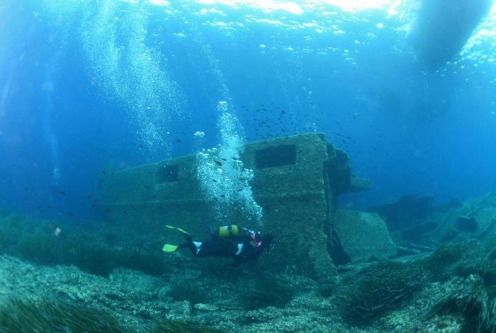Le cimentier repose à 15 mètres de profondeur. © Nicolas Barraqué