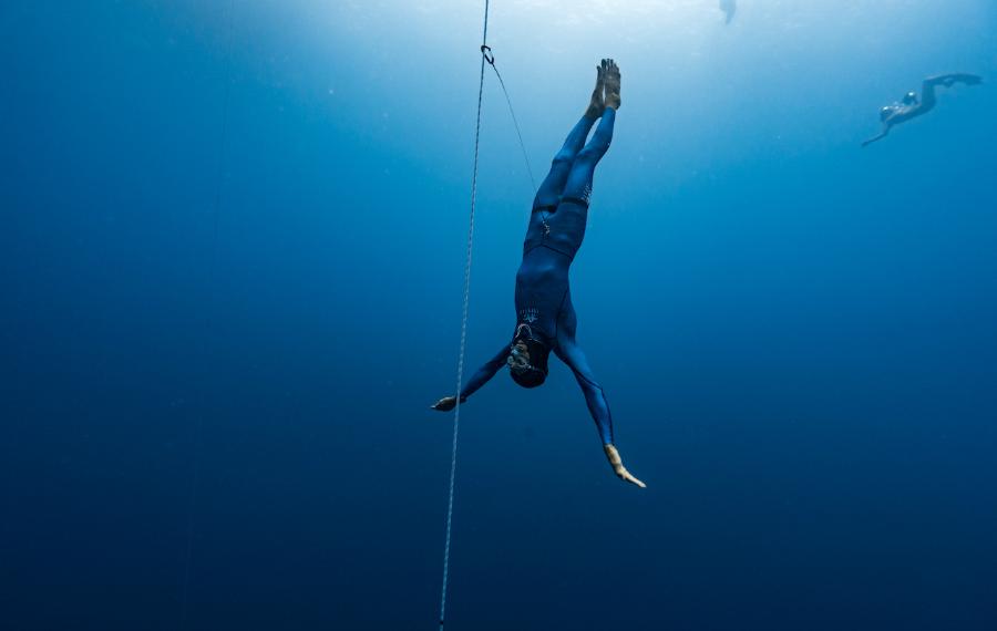 Rémy Dubern est descendu à 77 mètres pour ses derniers championnats. © Daan Verhoeven