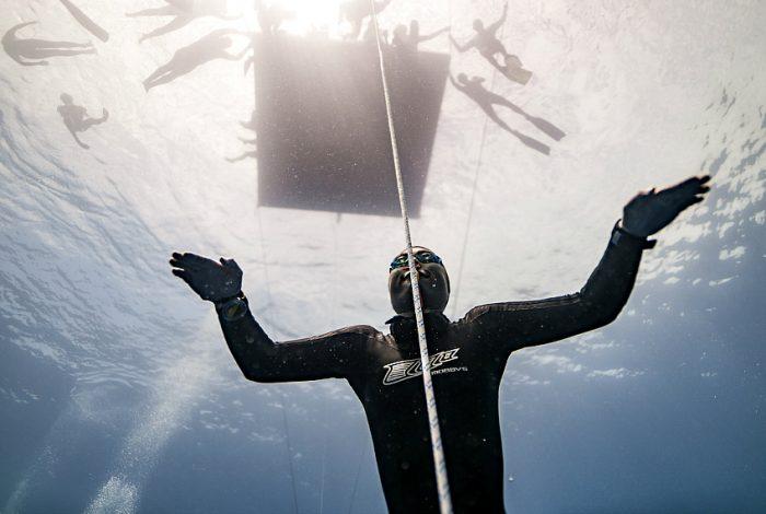 Avec 70 mètres réalisés, la Japonaise Sayuri Kinoshita se classe en tête de la compétition. © Daan Verhoeven.