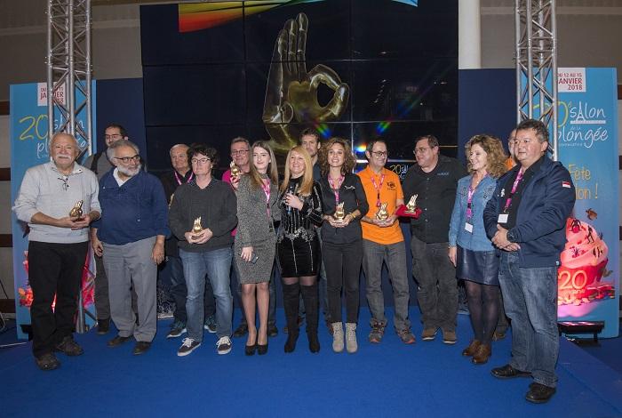 Les gagnants du concours photo du 20ème salon de la plongée sous-marine. © Dominique Barray