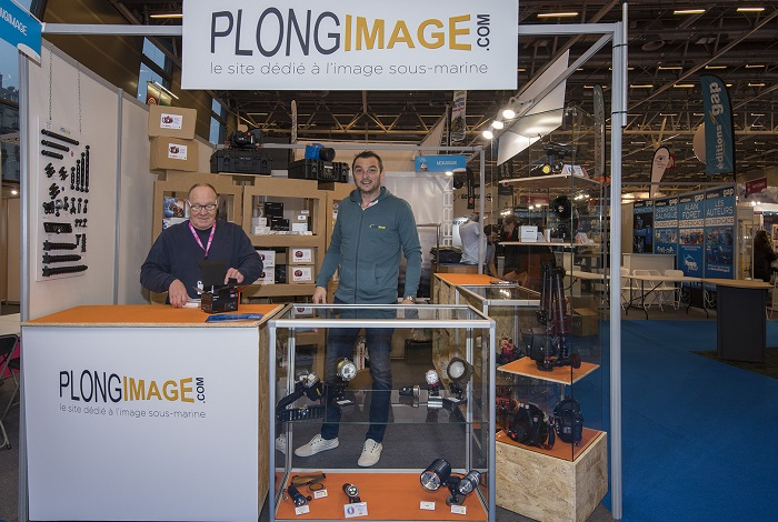 Sur le stand de Plongimage © Dominique Barray