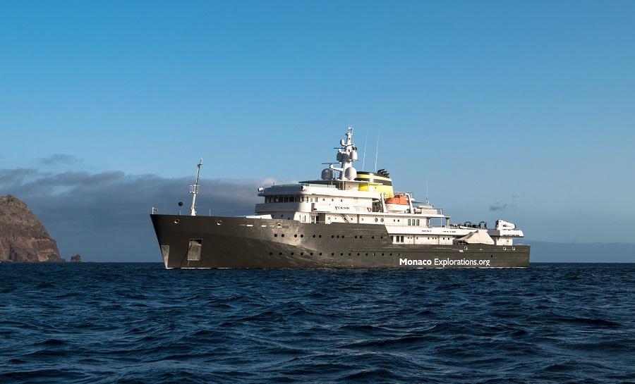 Le Yersin, plateforme de recherche des Explorations de Monaco. ©Monaco_Explorations-Buyle