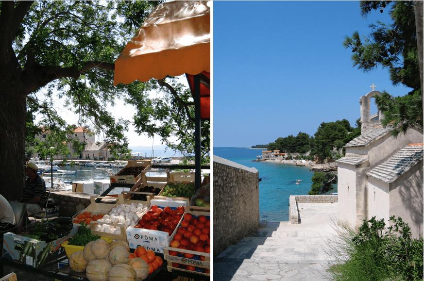 Bol, sur l'île croate de Brač