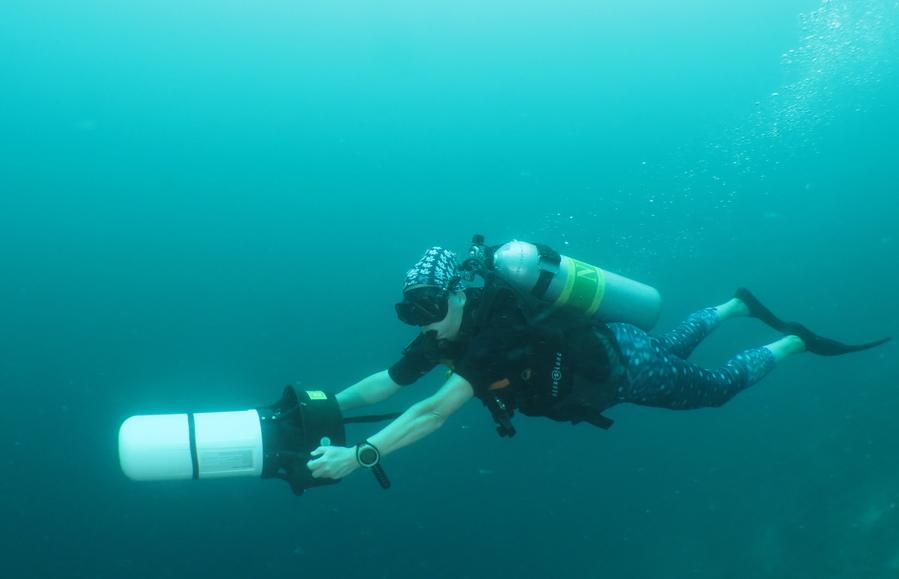 Scooter sous-marin. © Sandrine Leveugle-Souan