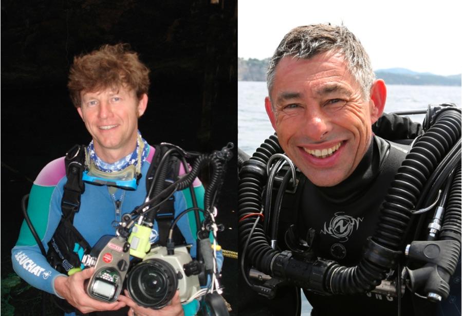À gauche Vincent Maran, à droite François Sarano, deux des invités du festival. © photo de droite : Stéphane Granzotto.