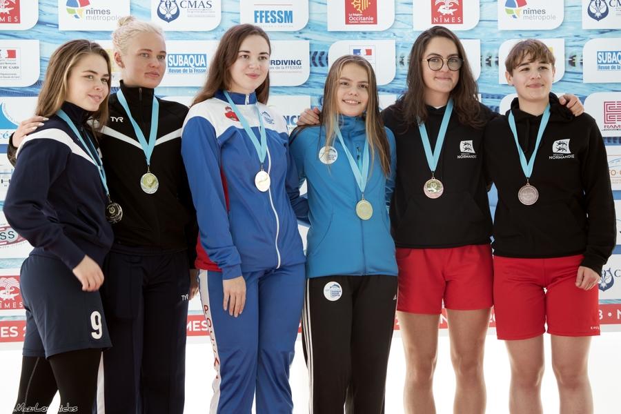 Maela Fortin et Axelle Gevrey, médaillées de bronze. © Julia Maz-Loumides