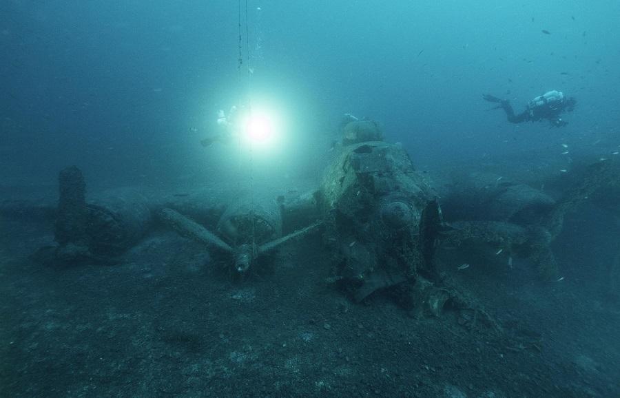 Immersion sur un B17, au large de l'île de Vis, en Croatie. © Petra Kovac Konrad