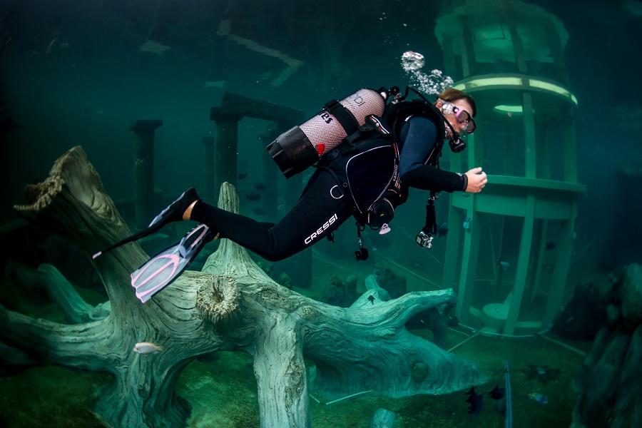 Exploration de l'aquarium géant de Todi en Belgique. © Jean Christophe Grignard