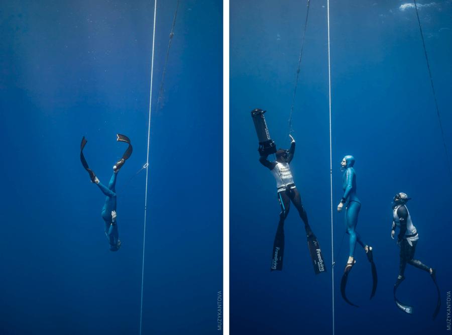 Images du record d'apnée d'Arnaud Jerald