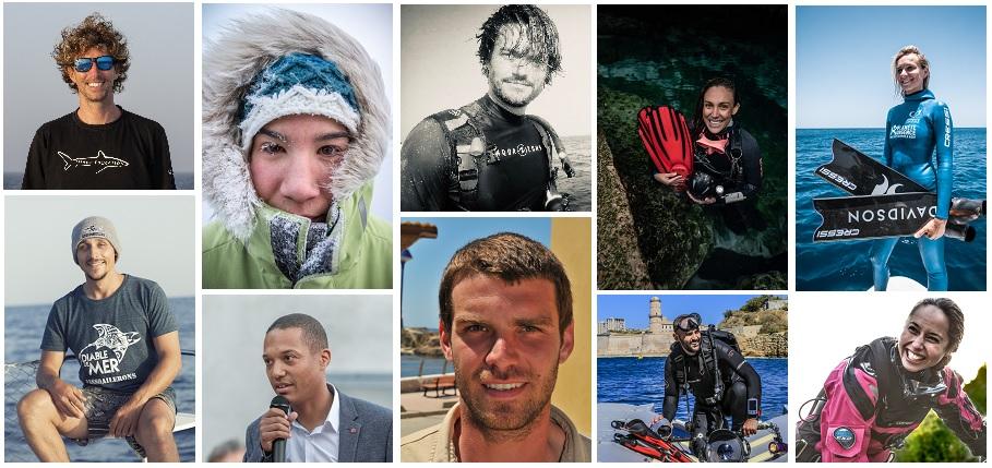 Spécialiste des requins, exploratrice, vidéaste, biologiste, apnéiste, chef d'entreprise, photographe, plongeuse tek... Ils sont les visages de cette nouvelle génération. © DR