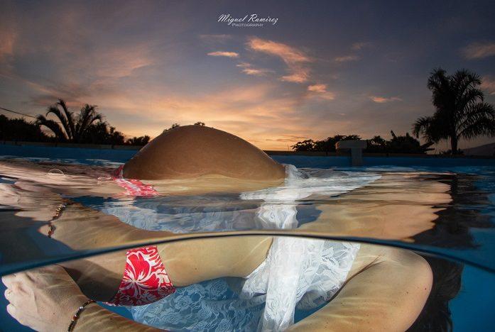 Photo de mode sous-marine © Miguel Ramirez