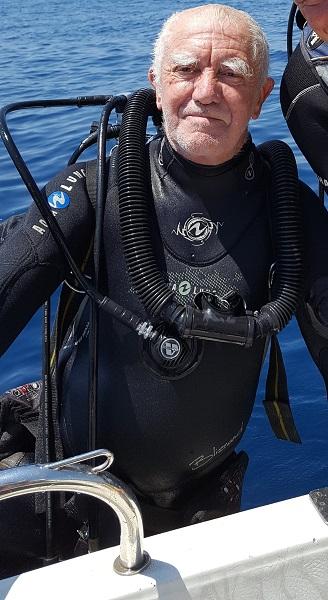 Jean-Pierre Joncheray plongeait essentiellement dans les eaux méditerranéennes. © Marc Langleur