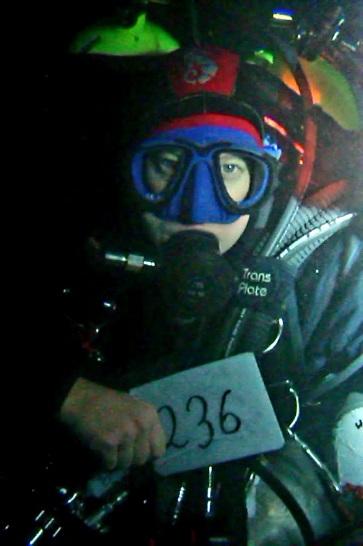 Karen à 236 mètres lors de son record. © Karen Van Den Oever