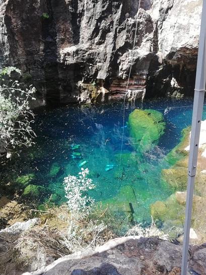 Le site de Boesmansgat où s'est déroulée cette plongée. © équipe de Karen Van Den Oever