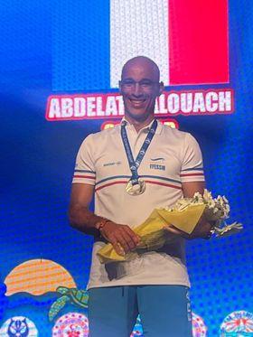 Sa performance a permi à Abdelatif Alouach de remporté l'argent et de battre le record de France. © FFESSM / Vincent Pouyet