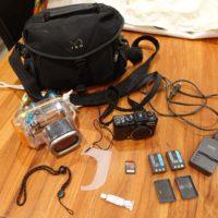 Pack complet Canon G9, caisson étanche, accessoires