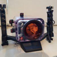 Sony HDR SR 12E et son caisson étanche IKELITE