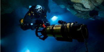 Plongée souterraine : Frédéric Swierczynski prêt pour une plongée à -300 mètres !